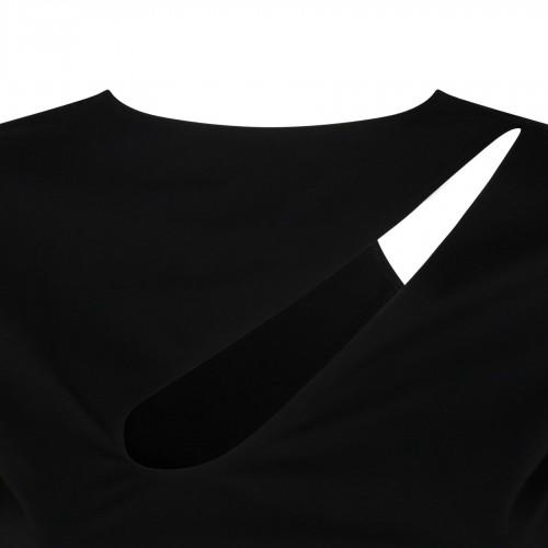 Ruffled sleeves white shirt