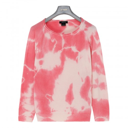Tie and dye silk and cashmere sweater