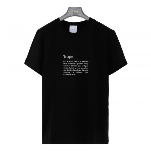 Trope black organic cotton T-shirt