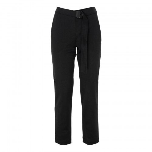 Dark gray cotton-blend pants