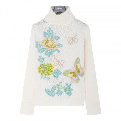 Butterfly and flowers sweater