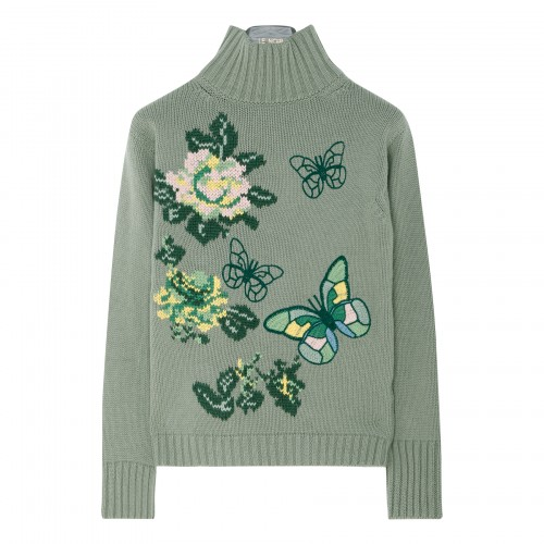 Butterflies and flowers sweater