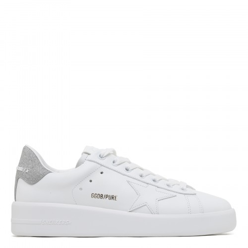 Purestar leather sneakers with glitter