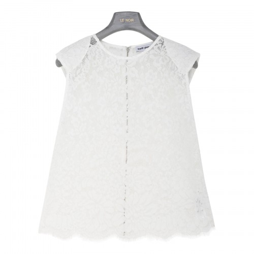 White cord lace sleeveless top