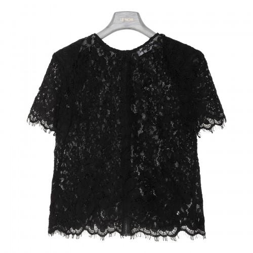 Black cord lace sleeveless top