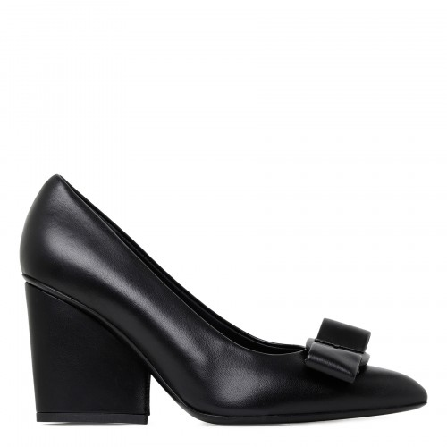 Viva 85 black leather pumps