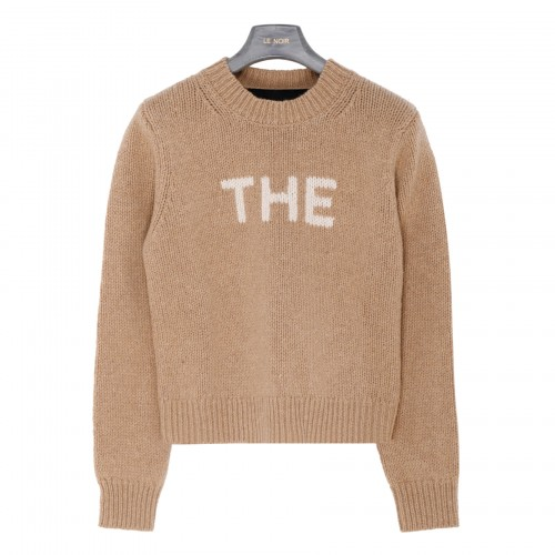The Sweater in camel-hue wool blend
