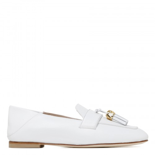 Wylie signature white leather moccasins