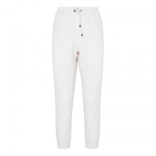 Oats-white cropped track pants