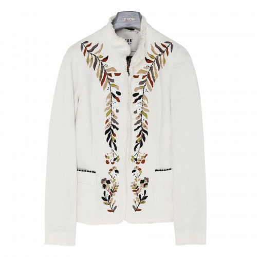 White embroidered jacket