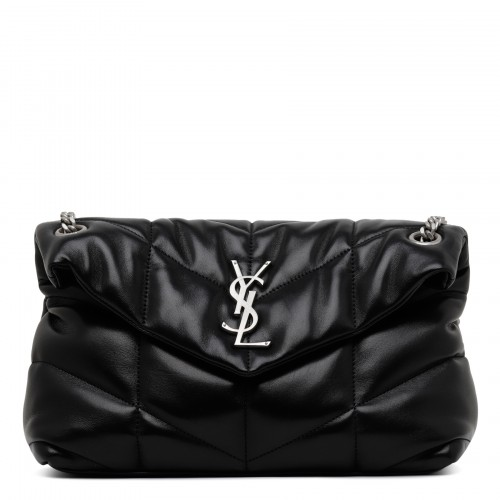 Loulou puffer black small shoulder bag