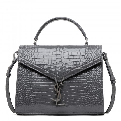 Cassandra croc-embossed leather medium bag