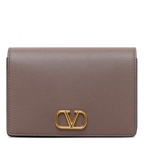 Vlogo signature clay-hue chain clutch