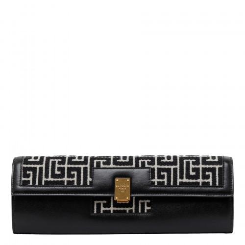 1945 logo jacquard large wallet with chain