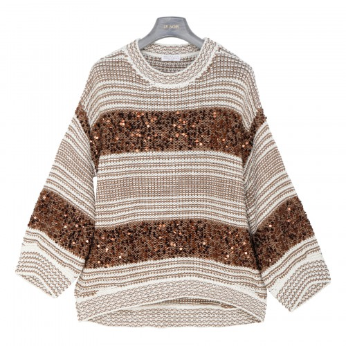 Striped sweater with sequins