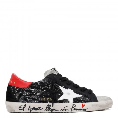 Superstar glitter lacy sneakers