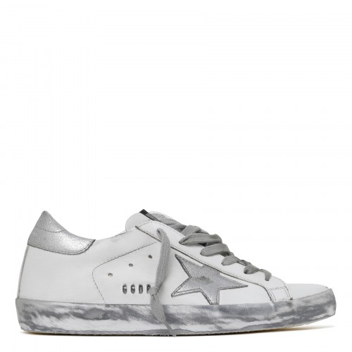Superstar white and silver low-top sneakers