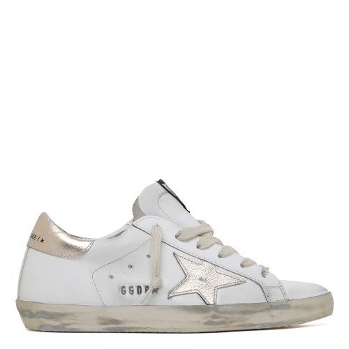 Superstar white and gold low-top sneakers