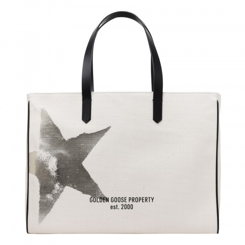 California white canvas tote bag