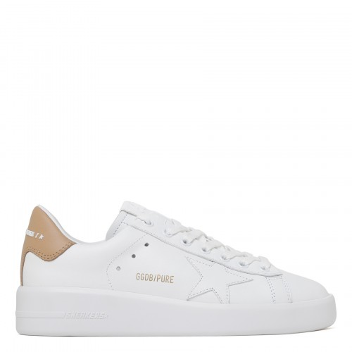 Purestar white and beige sneakers