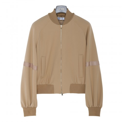 Genny technical jersey bomber jacket
