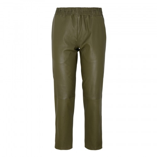 Jardin army green stretch leather pants
