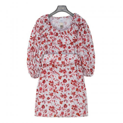 Floral organic cotton mini dress