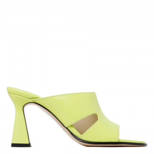 Marie yellow leather cut-out sandals