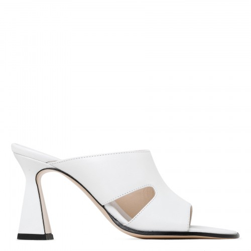 Marie white leather cut-out sandals
