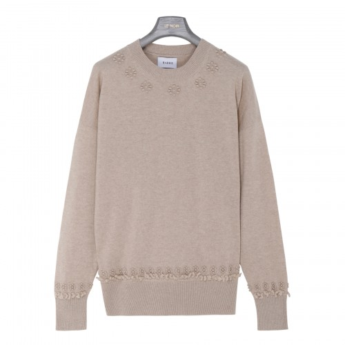 Taupe cashmere sweater