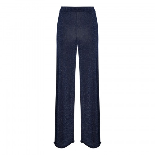 Blue knitted pants