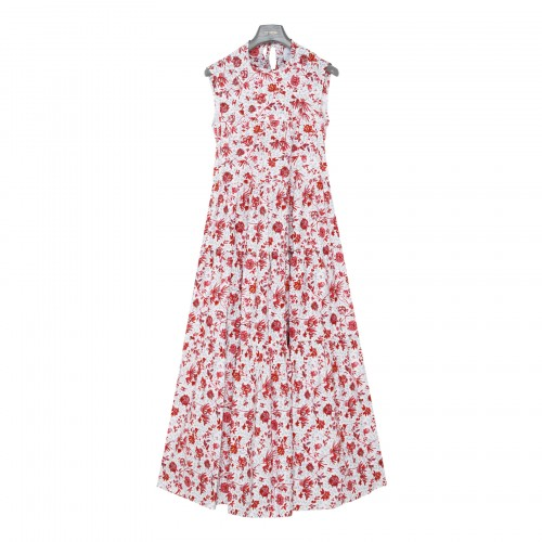 Floral maxi tiered dress