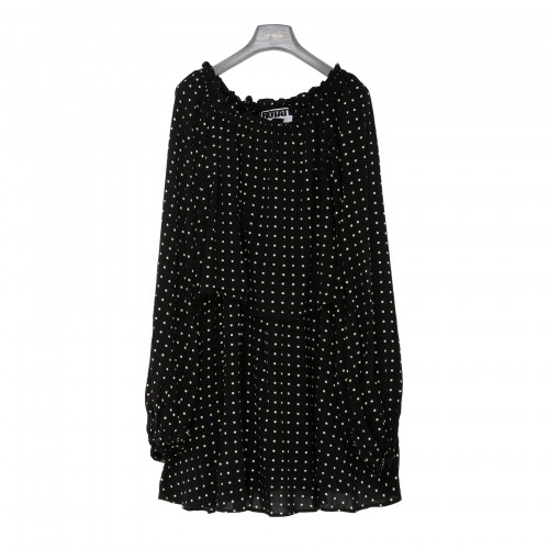 Carly black polka dots dress