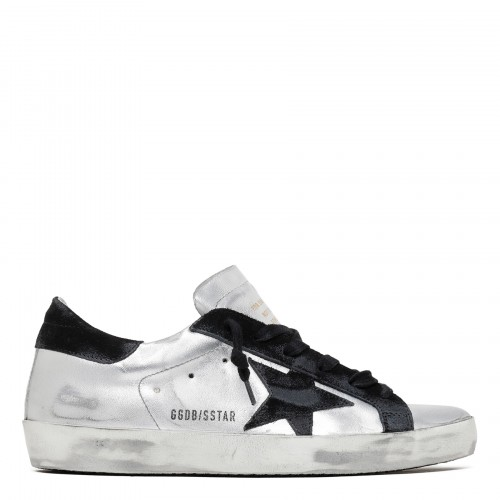 Superstar silver and black sneakers
