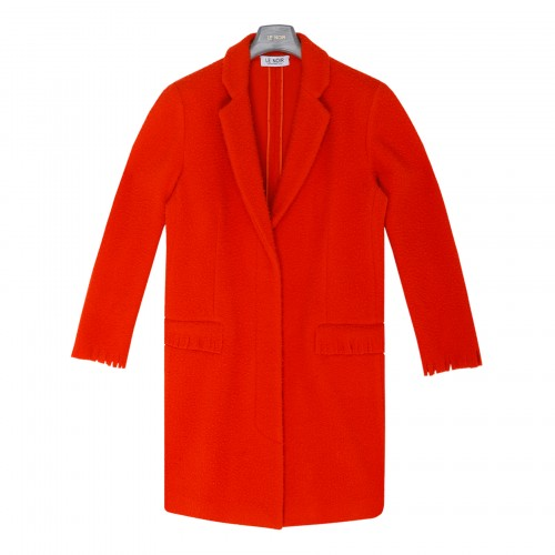 Deep orange single-breasted coat