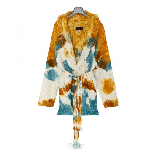 Mirage in the desert tie and dye cardigan
