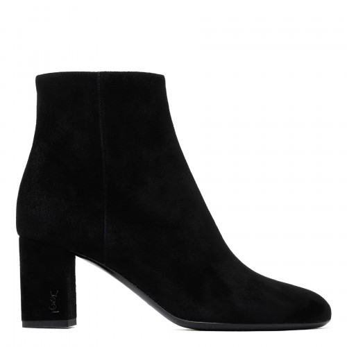 Loulou black suede 70 booties