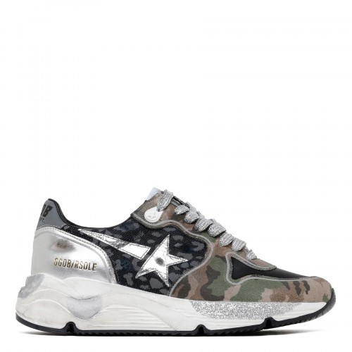 Running Sole mixed print sneakers