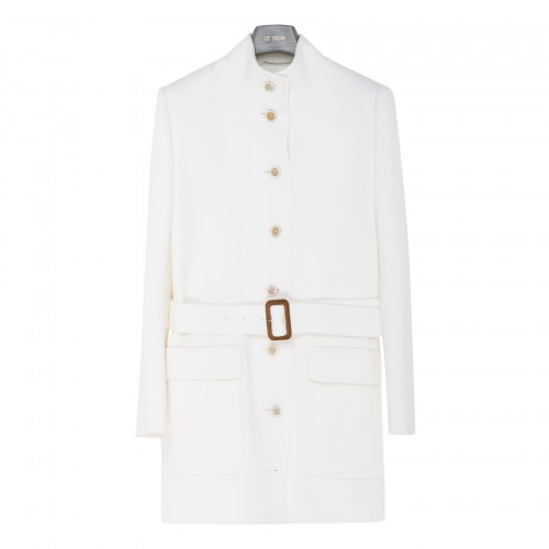 White belted wool jacket
