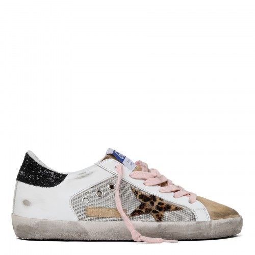 Superstar net and leather sneakers