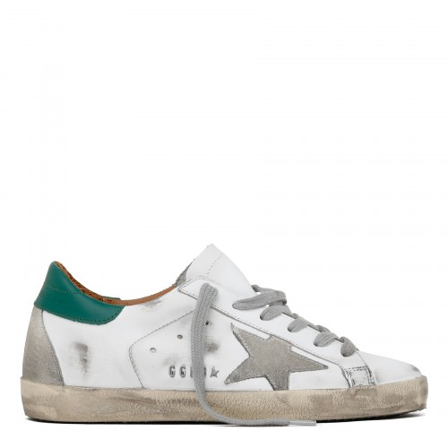 Superstar white and green sneakers