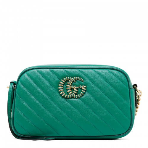 GG Marmont small green shoulder bag