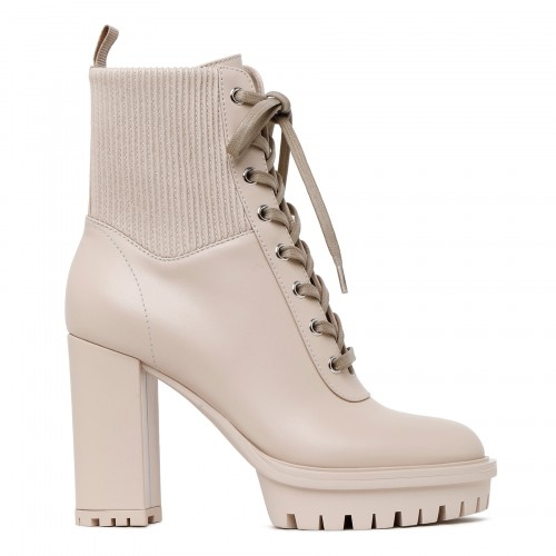 Martins nude leather ankle boots
