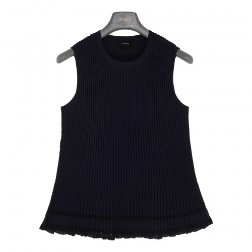 Midnight blue eco-knit top
