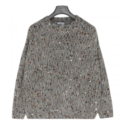 Sequined mohair blend sweater
