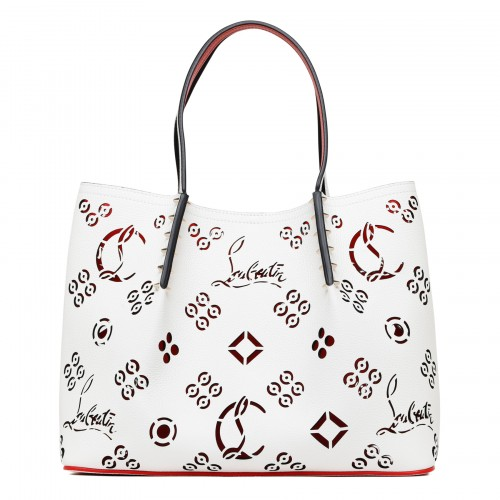 Cabarock small Loubinthesky perforated tote bag