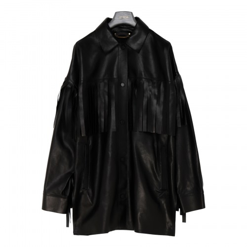 Darcie leather over shirt