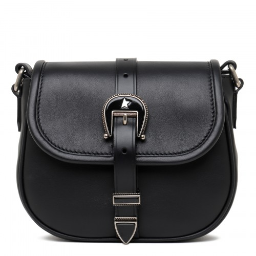 Rodeo black leather small bag