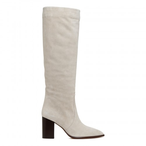 Sienna white leather boots