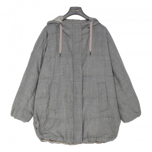 Gray flannel down jacket